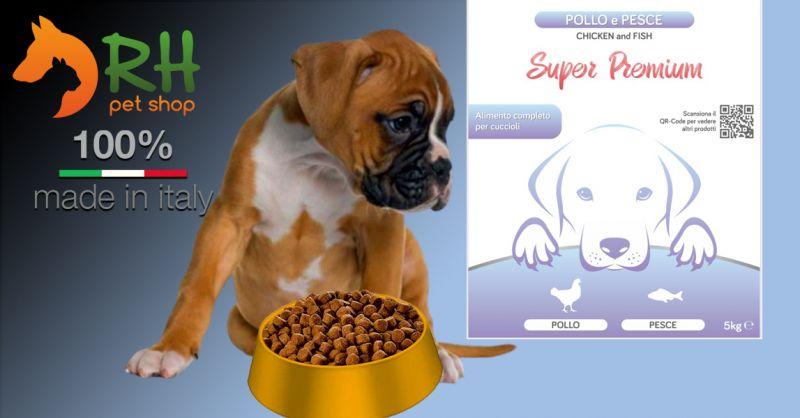 Offerta Crocchette Pollo e pesce puppy super premium - Occasione Crocchette complete senza cereali per cuccioli