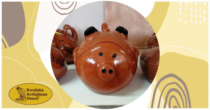 artigiana vasai - occasione vendita online maialino in terracotta per cibi al forno